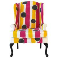 Hand-Painted Wing Chair For Sale at 1stdibs