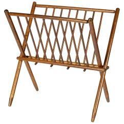 Yugoslavian Folding Chair Salon Chairs For Sale Cheap Vintage X Form Yugoslavia Walnut Magazine Rack