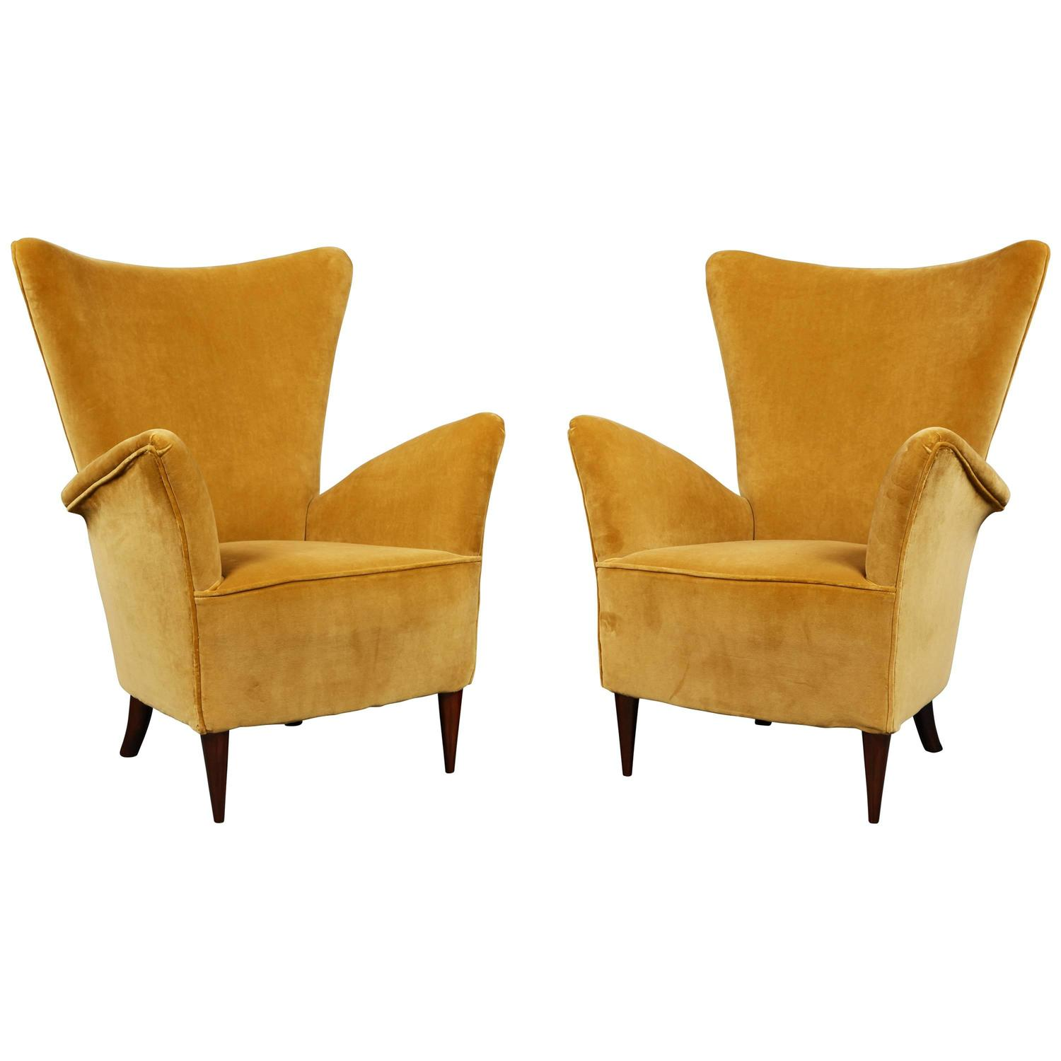 small arm chair folding outdoor lounge pair of scale gold velvet armchairs for sale at 1stdibs