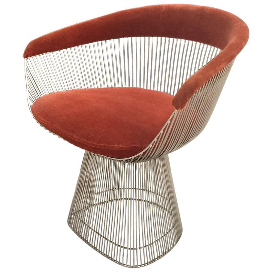 Warren Platner for Knoll MidCentury Modern Accent Wire Chair For Sale at 1stdibs