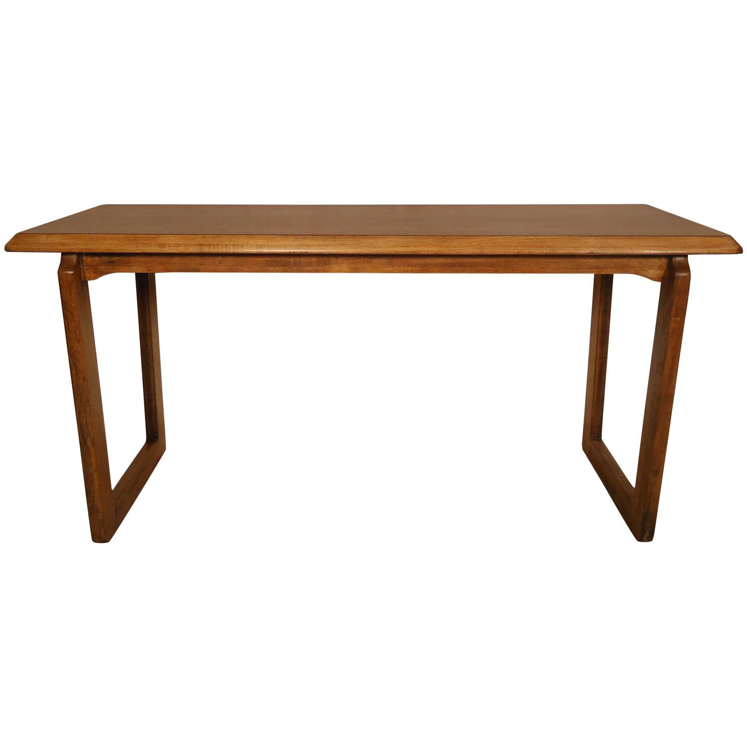 vintage lane sofa table bean bag bed india modern walnut console by for sale at