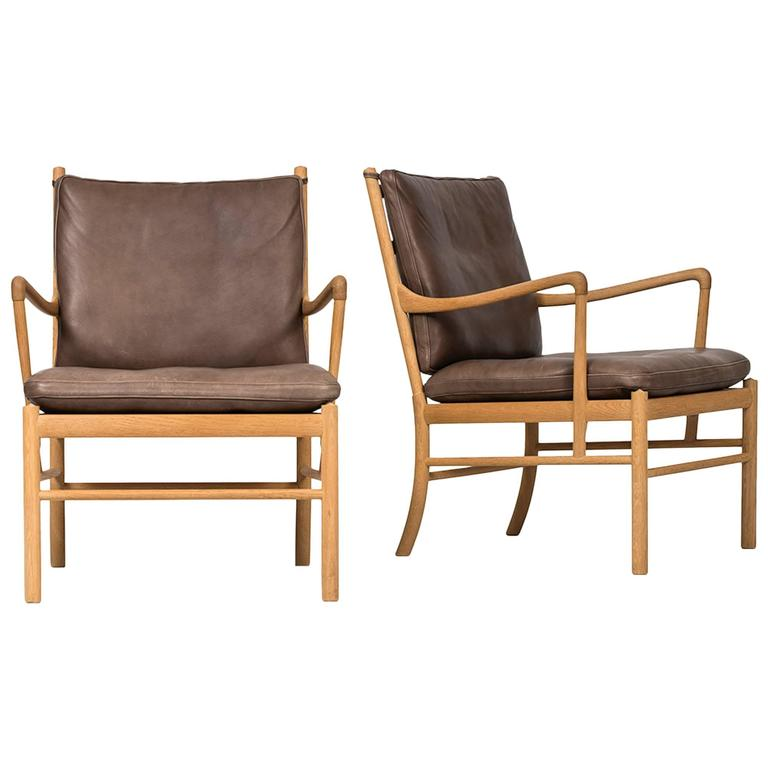 colonial sofa sets lazy boy reclining dimensions ole wanscher easy chairs by p j furniture in denmark for sale