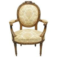 Early 20th Century Finely Carved Walnut French Louis XVI ...