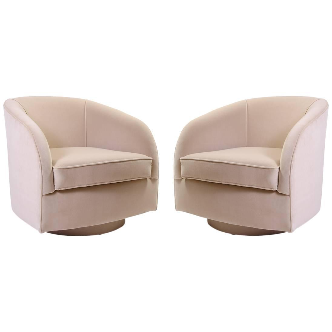 swivel chair mid century covers and sash hire hertfordshire chairs in sand velvet for sale at 1stdibs