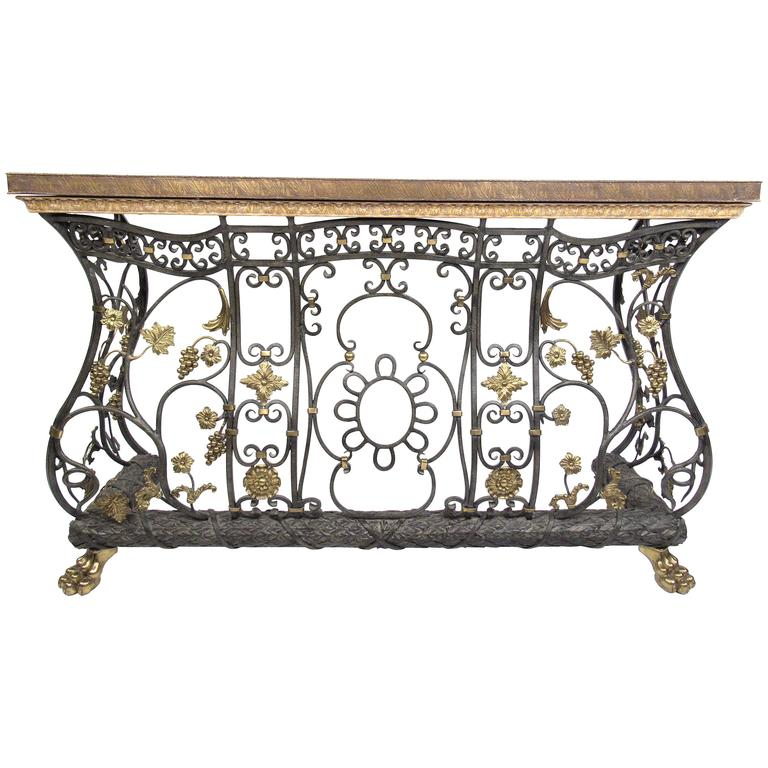 sale sofa tables refurbishing delhi ornate iron brass and bronze console table or radiator cover for