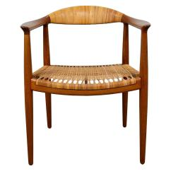 Circular Chairs For Sale Sitting Room Designs Hans Wegner Quotround Quot Chair In Teak And Cane At 1stdibs