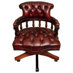 Unique Leather Office Chairs Chair Covers For Sale Plymouth English Handmade Captains Desk Ox Blood