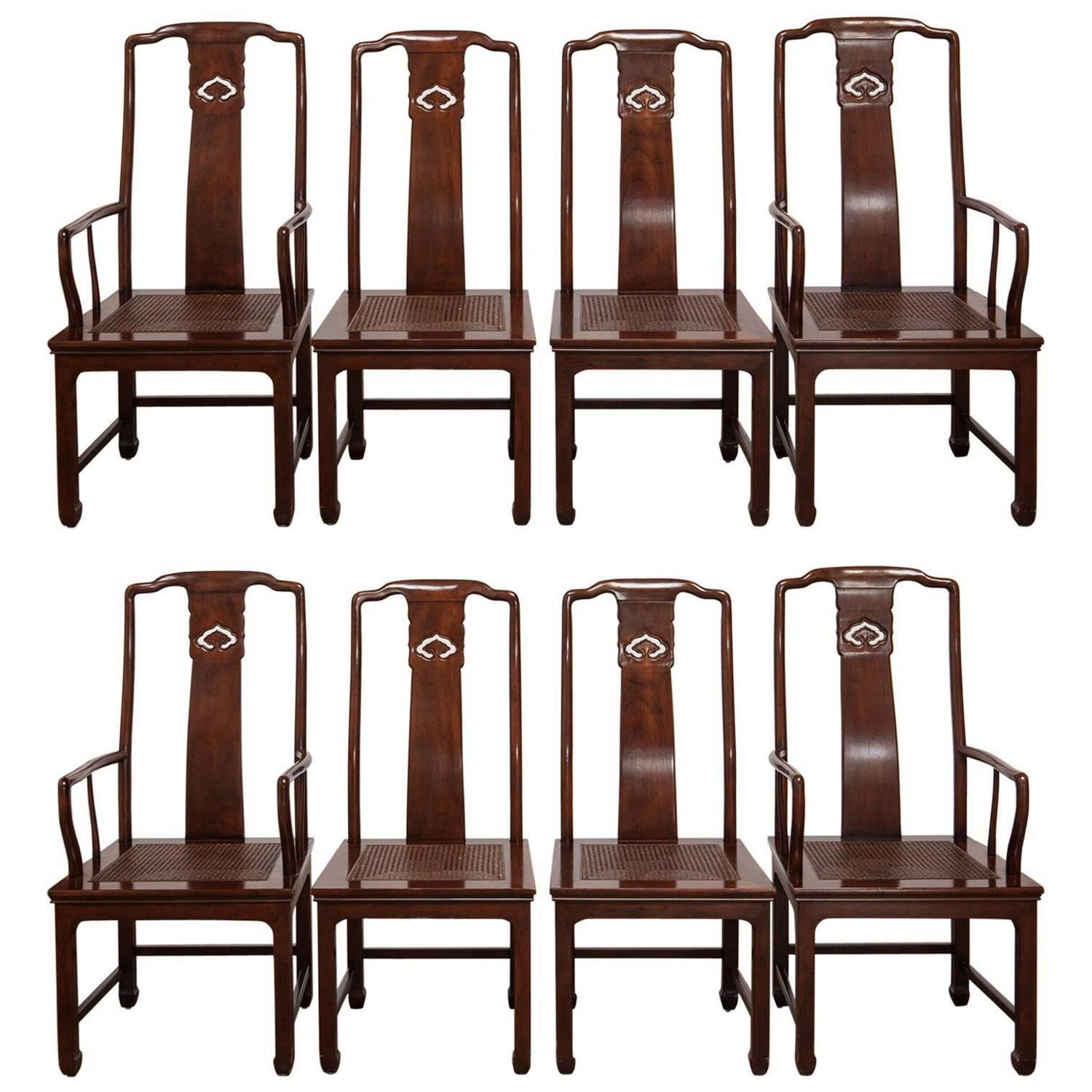 henredon asian dining chairs victorian style chair covers set of eight chinese ming by for
