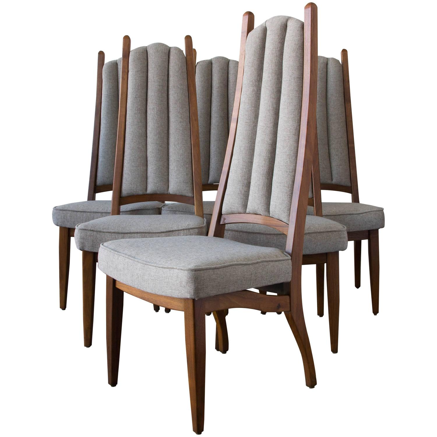 mode chair covers modern set of six cal high backed dining chairs for sale at