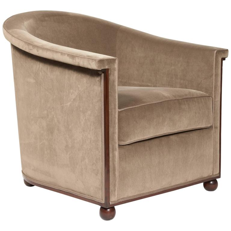 armchair boule model by jules leleu circa 1930 for sale