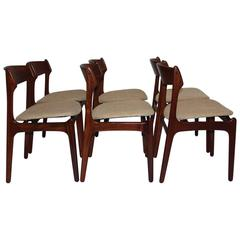 erik buck chairs accent chair with writing on it set of eight vintage danish 301 teak dining for scandinavian modern room by 1967 denmark six