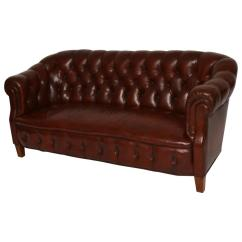 Pink Tufted Sofa For Sale Bonded Leather Durability Antique Swedish Chesterfield At 1stdibs