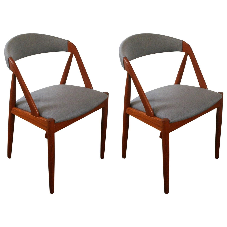 Pair of Vintage Teak Model 31 Dining Chairs by Kai