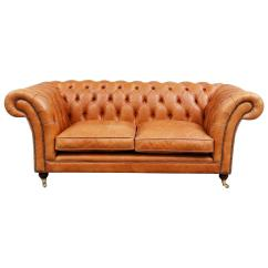 Brown Sofas For Sale Mahjong Sofa Reproduction Light Leather Chesterfield At 1stdibs