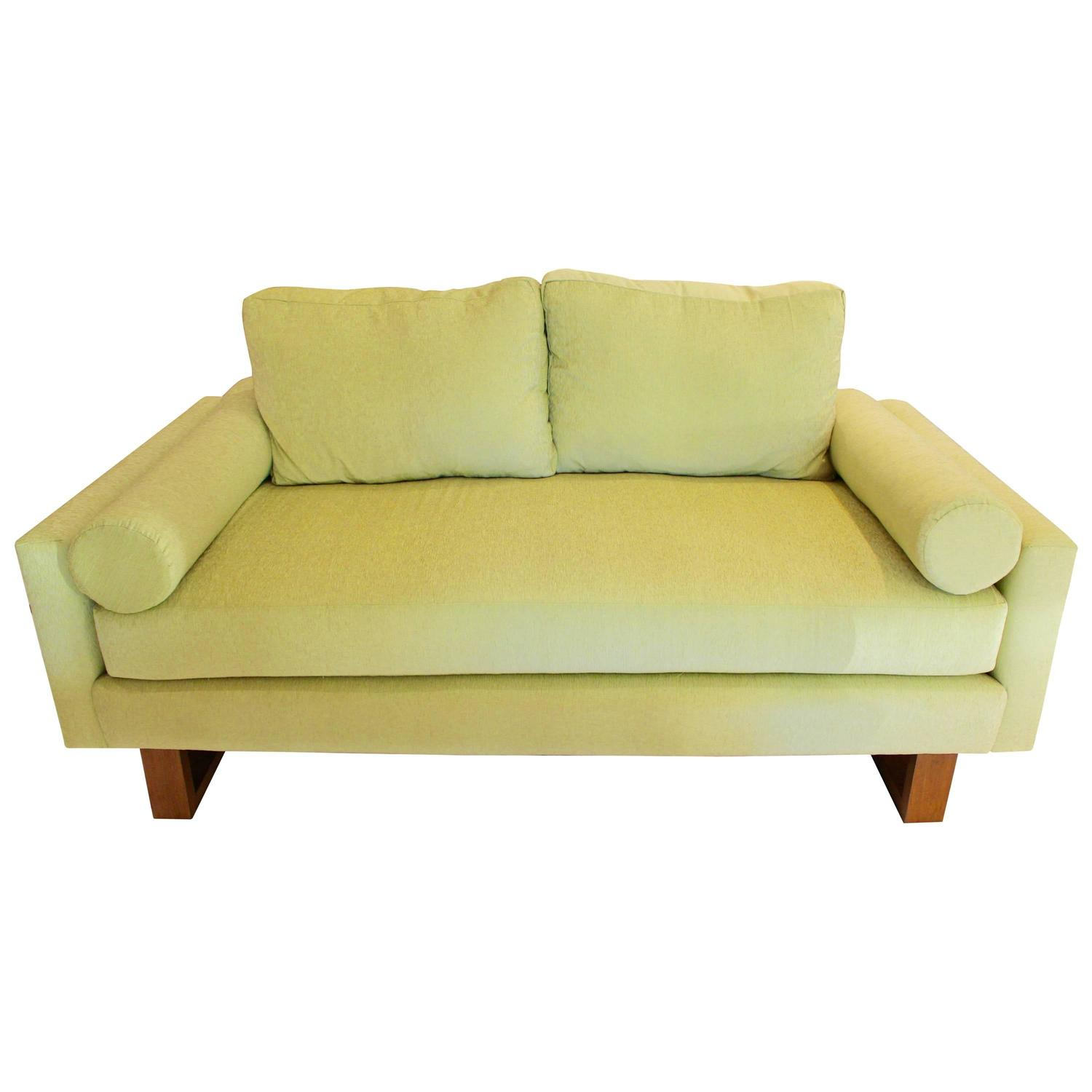 lime green chairs for sale recliner chair arm covers mid century sofa at 1stdibs