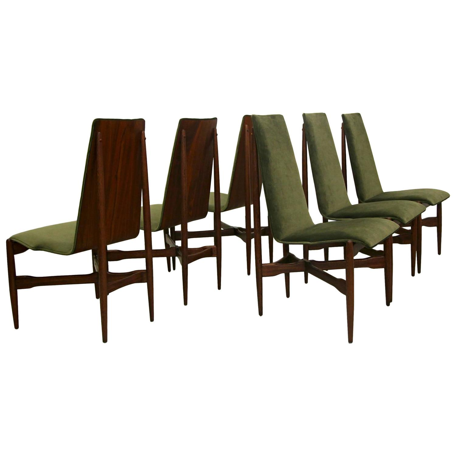 bentwood dining chair how to upholster a cushion set of six mid century chairs by kodawood