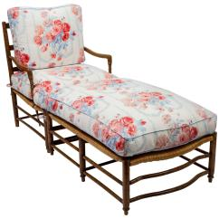 French Bergere Chair And Ottoman In A Room 18th Century Country Rush Seat