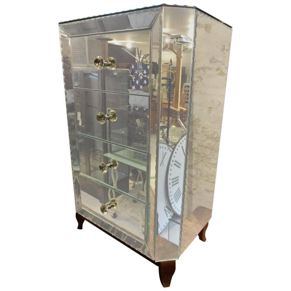 20th Century Mirrored Chest Of Drawers 1stdibs