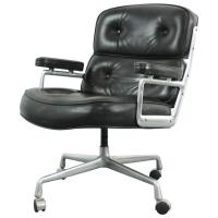Vintage Midcentury Black Leather Time-Life Chair by Eames ...