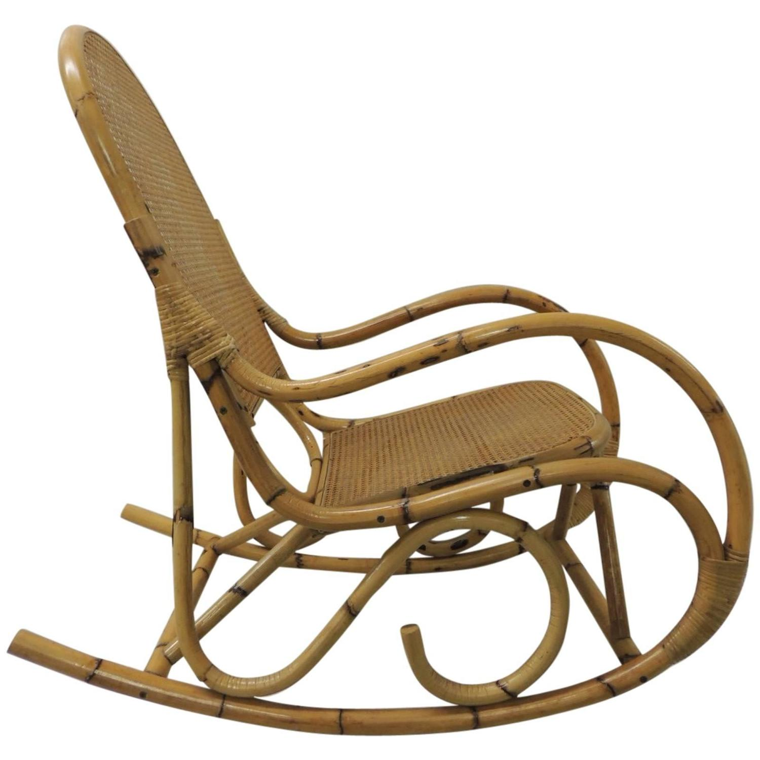 wicker rocking chairs x rocker pedestal gaming chair setup vintage bamboo and armed for sale at