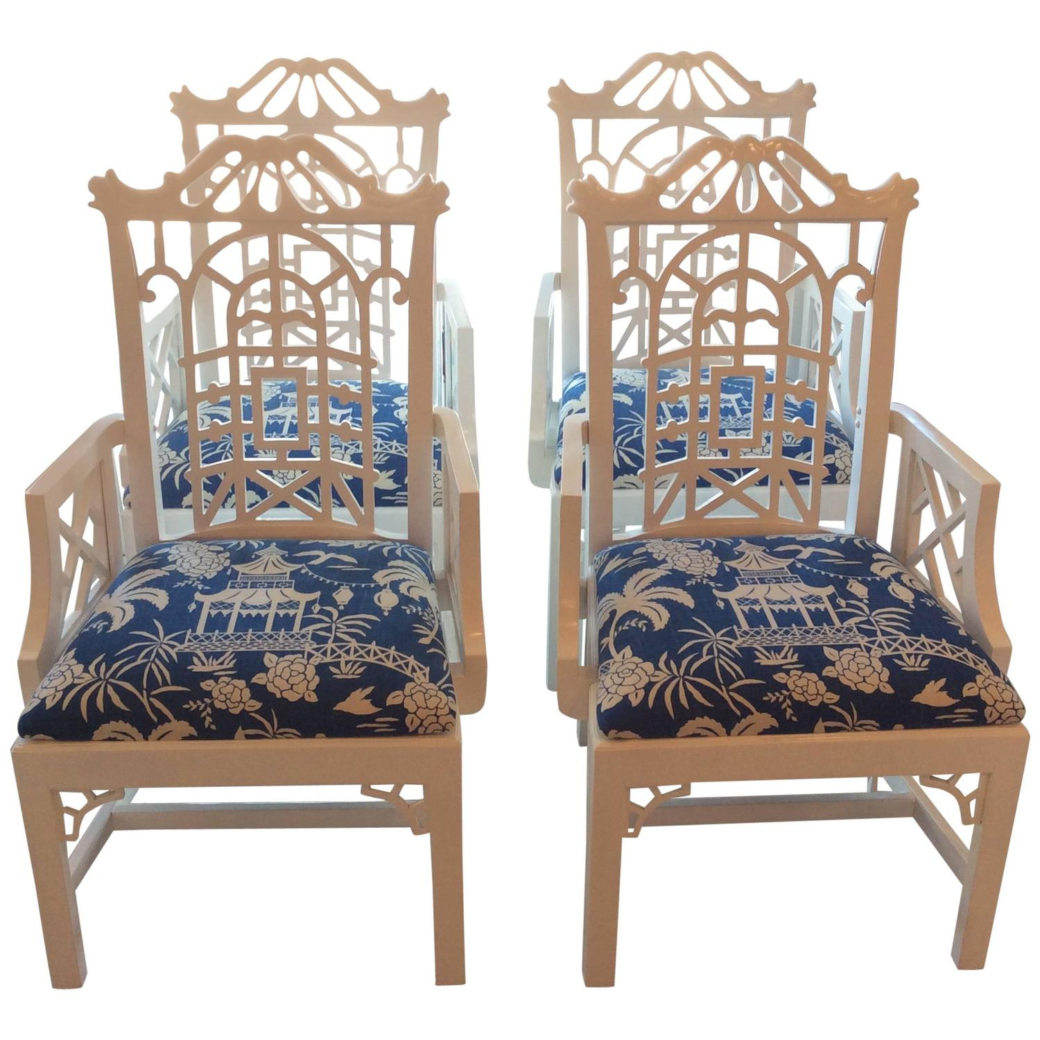chinese chippendale chairs nursery rocker chair reviews pagoda arm dining lacquered american of
