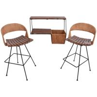 Rare Arthur Umanoff Bar Set with Shelf for Raymor at 1stdibs