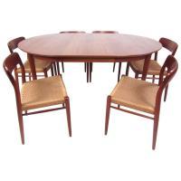 N.O. Moller Scandinavian Modern Teak Dining Table and ...