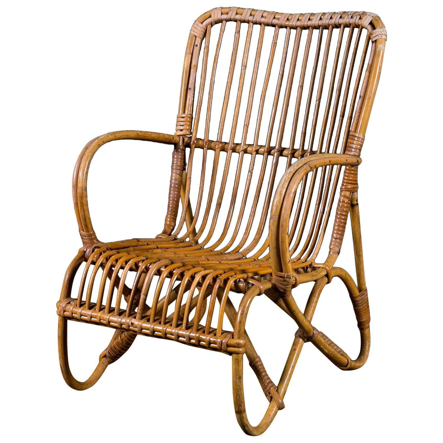 Vintage Rattan Chairs Vintage French Rattan Child 39s Chair For Sale At 1stdibs