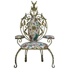Game Of Thrones Chair For Sale Baby Room Baroque Italian 1950s Gilt Iron Throne At