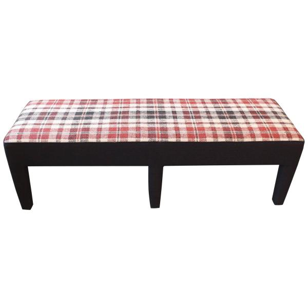 Custom Bench Upholstered in Vintage Handwoven French Linen ...