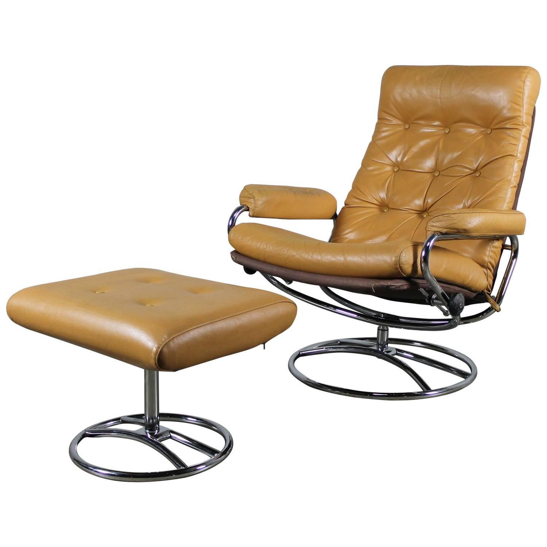 swedish leather recliner chairs ball chair stand scandinavian modern ekornes style stressless reclining