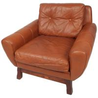 Mid-Century Modern Danish Leather Lounge Chair For Sale at ...