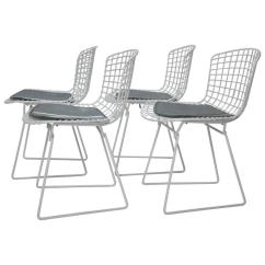Bertoia Wire Chair Original Chip N Dale Chairs Four Harry For Knoll With Seat Pads Usa 1960s