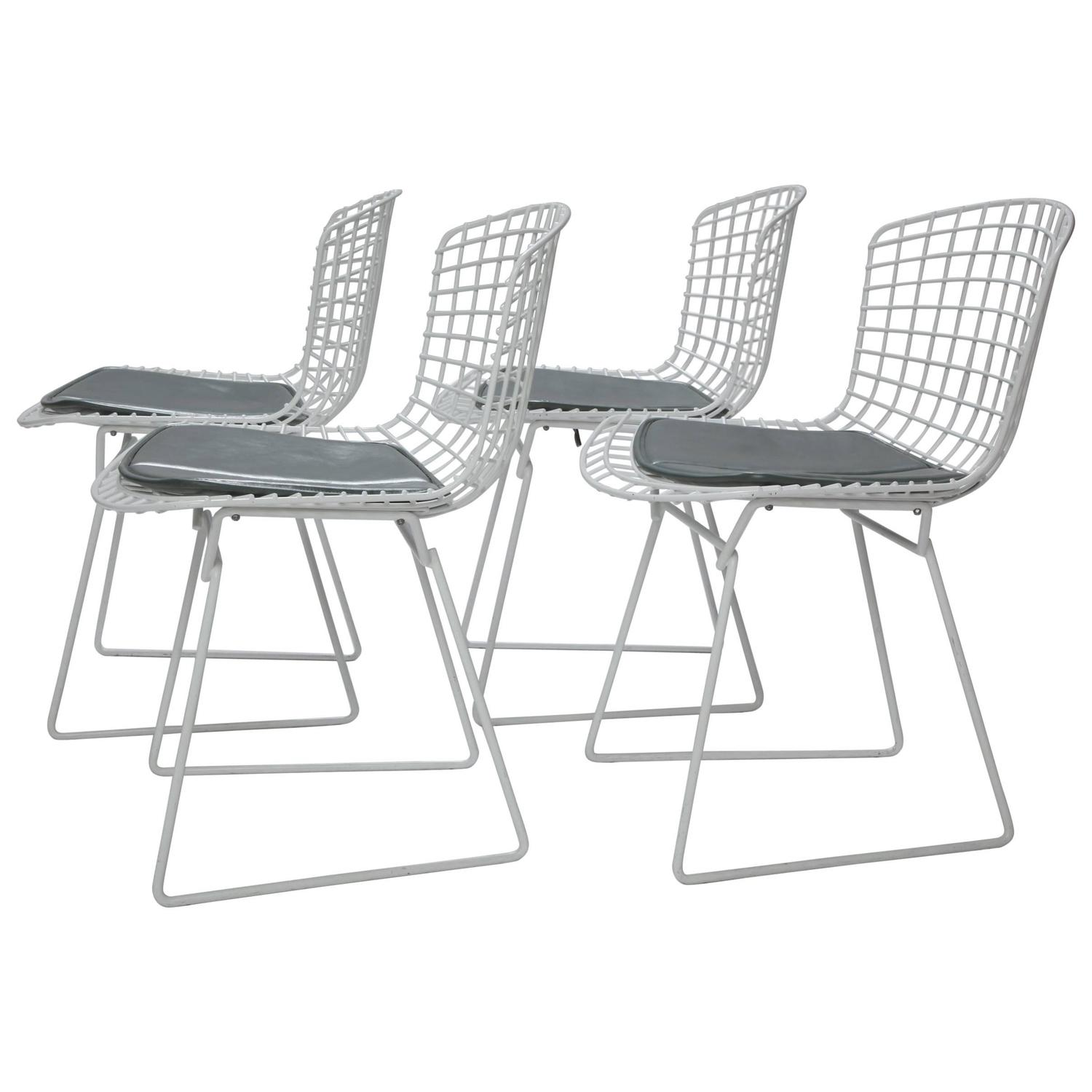 bertoia wire chair original folding card table and chairs four harry for knoll with