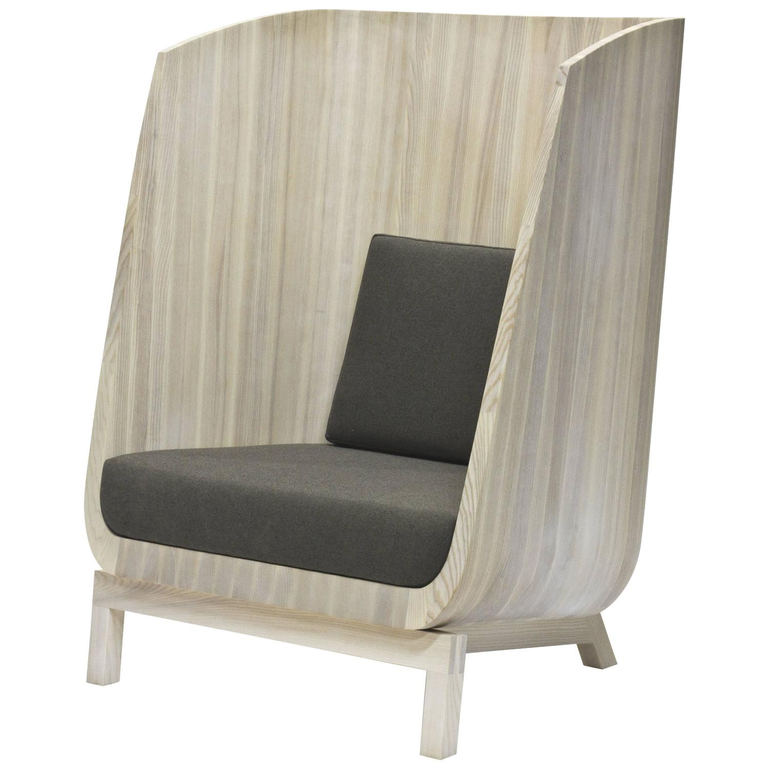 Husk Privacy Chair in Solid Ash by Laura Mays for Wooda