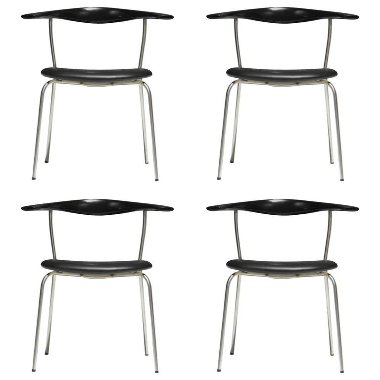 Hans Wegner, Set of Eight Round Back Dining Chairs in