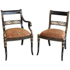 Maitland Smith Dining Chairs Poang Chair Covers Australia Set Of Six Gilt Ebony Color At 1stdibs For Sale