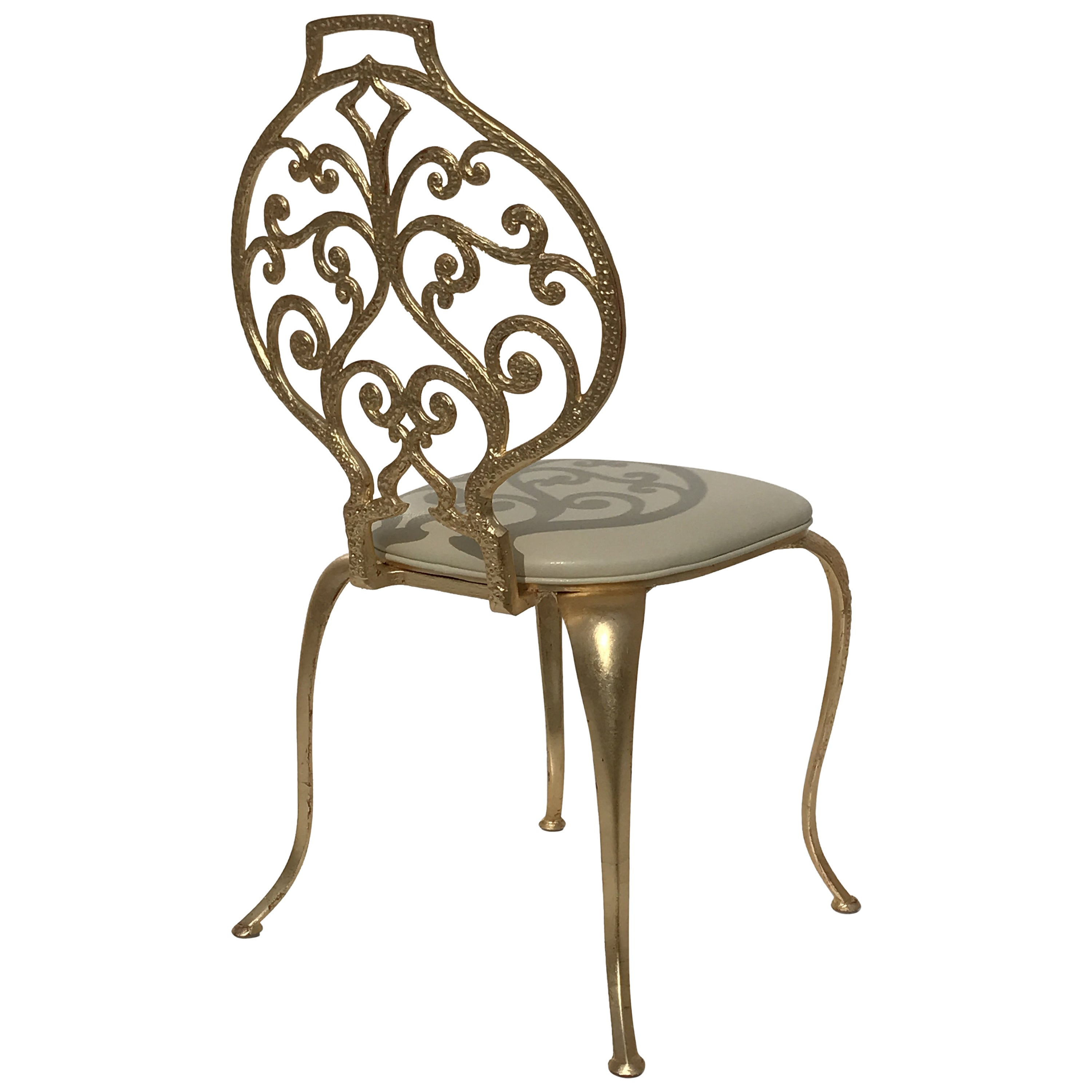 Vanity Chairs Gold Leafed Vanity Chairs By Thinline Mfg
