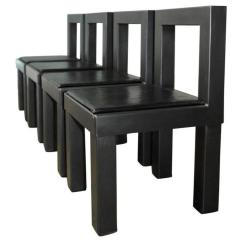 Industrial Dining Chair The Is Against Wall Set Of Four Gunmetal Grey Steel Modern Chairs For Sale
