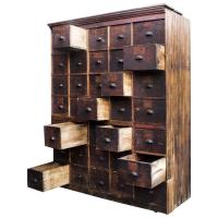 Large Antique Multi-Drawer Storage Cabinet, circa 1890s ...