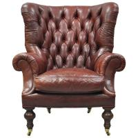 Antique Leather Wingback Chair | Antique Furniture