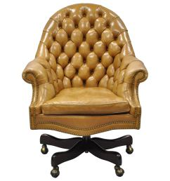 20th c cabot wrenn tan leather english chesterfield executive office desk chair for sale at 1stdibs [ 3000 x 3000 Pixel ]
