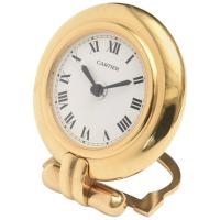 Cartier 24-Karat Gold-Plated Travel, Desk or Nightstand ...