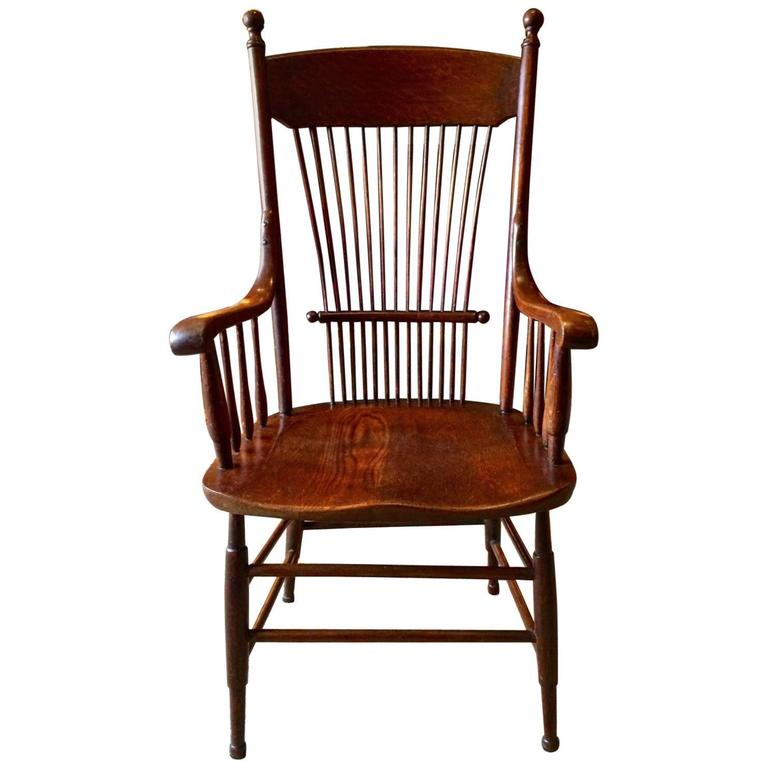 spindle arm chair bitty baby antique windsor oak back victorian, 19th century at 1stdibs