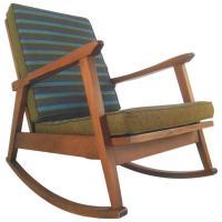 Mid-Century Modern American Walnut Rocking Chair For Sale ...
