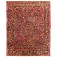 Large Antique Persian Sarouk Carpet with Floral Patterns ...