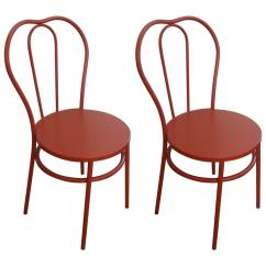 Industrial Bistro Chairs Chair Gym Australia On Sale Now Magnolia Homes Pair Of Candy Apple Red For