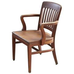 Wh Gunlocke Chair Unusual Wooden 1920s Solid Oak Office Armchair By W H Co At 1stdibs For Sale