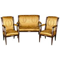 20th Century Empire Style French Garniture Living Room ...