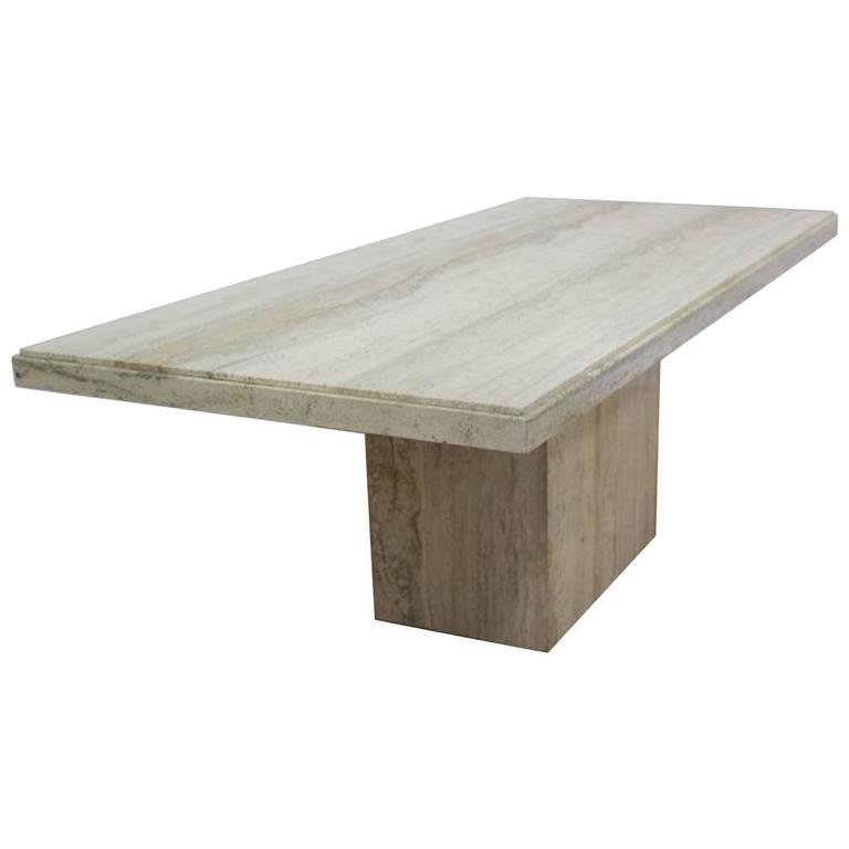 1970s Travertine Dining Room Table For Sale At 1stdibs